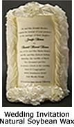 Wedding Invitation Natural Soybean Wax Candles